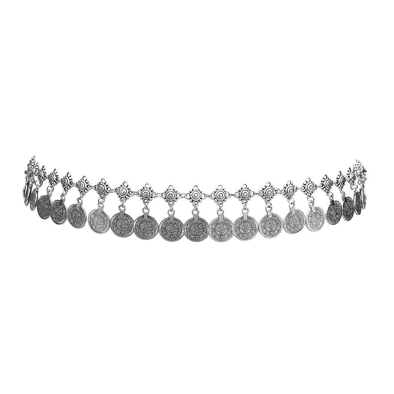 Idealway Gypsy Silver Dangle Coins Belly Chain Hippie Boho Belt Belly Dance Chain Body Jewelry