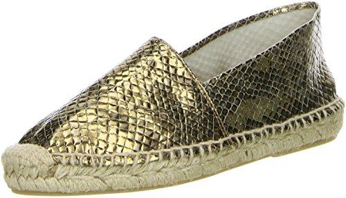 maypol Damen Espadrilles Gold, Größe:38;Farbe:Gold