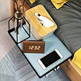 Bedroom Bedside Table Storage Rack-University Dormitory bunk beds, Removable Bedside Chuck, (Plastic Tray, Leather, Data Cable Organizer)