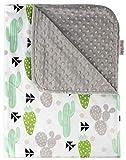 Baby Blanket - Green Grey Cactus