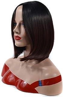 YESONEEP 女性用ショートボブウィッグダークブラウン人工ウィッグデイリードレスパーティーウィッグ (Color : Dark brown, サイズ : 30cm)