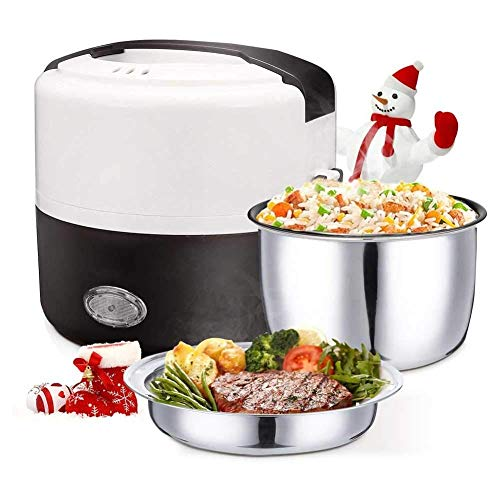 MZXUN Electric Lunch Box, Portable Bento Box Food Warmer, with Removable Stainless Steel Container