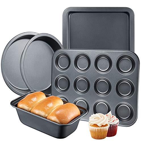 Deik 5-Piece Nonstick Oven Bakeware Baking Set @ Amazon