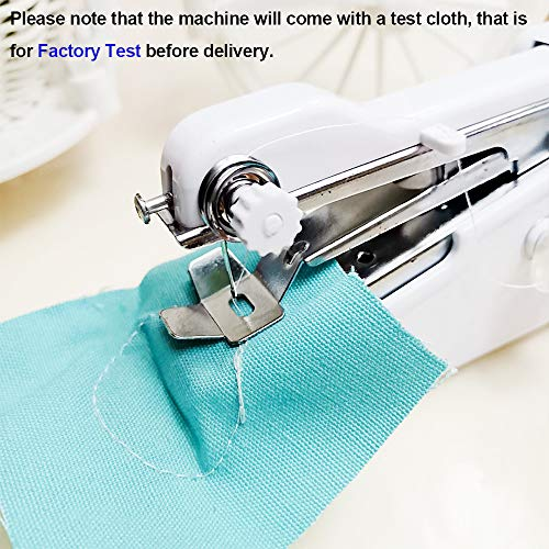 Handheld Sewing Machine, Mini Electric Hand-held Cordless Portable Sewing Machine,29 PCS Quick Repairing Quick Stitch Tool for Fabric, Kids Cloth, Curtains, Clothing, DIY, Home Travel Use,White