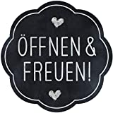 AVERY Zweckform 200 Etiketten Öffnen und Freuen (Geschenk Sticker selbstklebend auf Rolle, Ø38 mm,...