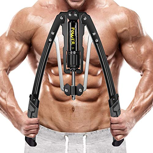 Vivitory Adjustable Hydraulic Power Twister Arm Forearm Exerciser 22-440lbs Home Chest Expander for Arm, Biceps, Abdomen, Shoulder and Chest Muscle Strength Training (Grey)