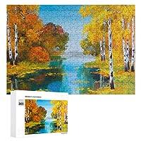 ランドスケープバーチフォレスト 300ピースのパズル木製パズル大人の贈り物子供の誕生日プレゼント