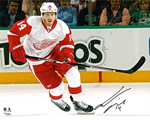 "Gustav Nyquist Detroit Red Wings Autographed 8"" x 10"" White Jersey Skating Photograph - Fanatics Authentic Certified"