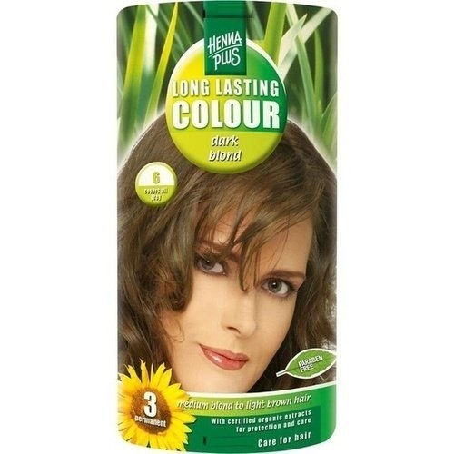 Hennaplus Long Lasting Colour Dark blond 6 - 100 ml