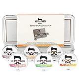 Mo Bro's Coffret Cadeau de Baume à Barbe - 15ml (6 Parfums) Hydrater et Nourrir la...