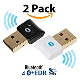 Bluetooth CSR 4.0 USB Dongle Adapter, EKSEN Bluetooth Transmitter and Receiver For Windows 10/8 / 7 / Vista - Plug and Play on Win 8 and above - Black And White
