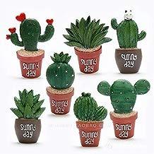 UChic 8pcs Creative imanes para Nevera Resina Cactus y Aloe Cocina decoración Planta frigorífico Pegatinas decoración del hogar Adhesivo Creativo Regalos