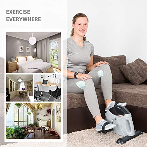 Ultrasport Mini-vélo d'appartement, appareil d'entraînement pour bras et jambes, pédalier pour...