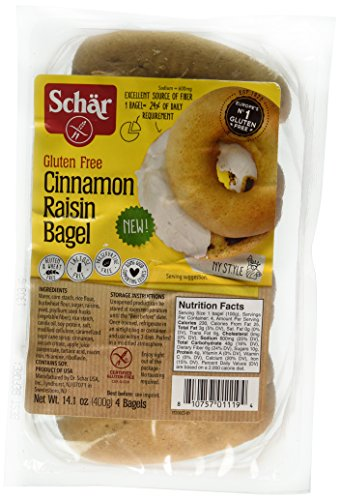 Schar Gluten Free Cinnamon Raisin Bagels, 14.1 Ounce