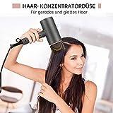 Haartrockner leise, MANLI Haartrockner ionen Hair Dryer Klappbarmit, Föhn Reisefön mit Thermo Protect Technologie und cool shot für Familie und Reise, Drei Temperatur und Windgeschwindigkeiten - 3