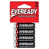 Eveready Super Heavy Duty Batteries, AA, 4-Count
