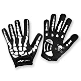 RocRide Skeleton Cycling Gloves Gel Padded Road Mountain BMX Full or Half Finger Men Women Child Sizes