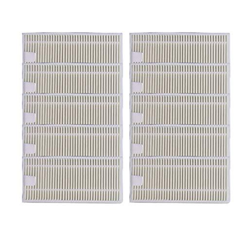 SODIAL 10 Piezas Filtro Hepa de Aspiradora RobóTica para Conga Slim 890/750 Piezas de Aspiradora RobóTica