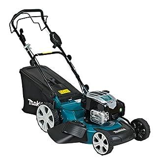 Makita PLM5113N2 Walk behind lawn mower Gasolina Negro, Azul, Plata cortadora de césped – Cortacésped (Walk behind lawn mower, 2000 m², 51 cm, 2 cm, 7,5 cm, Cuchillas giratorias)