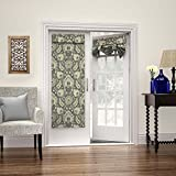 WAVERLY Room Darkening Curtains for French Door - Clifton Hall 26' x 68' Thermal Insulated Single Panel Glass Door/Patio Door Window Curtain for Privacy, Flax