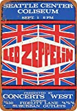 Hunnry Led Zeppelin in Seattle Poster Metall Blechschilder
