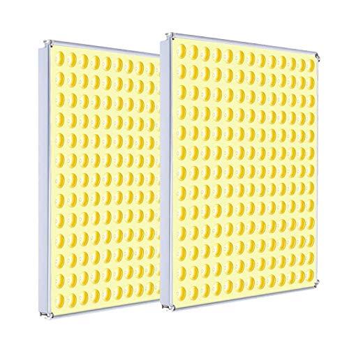 CXhome 2Pcs 75W LED Pflanzenlampe Vollspektrum LED Grow Light Pflanzenlicht Led Grow Lamp für Zimmerpflanzen Gemüse und Blumen