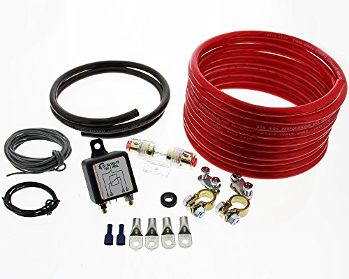 Trennrelais DTRL180/12 Einbauset mit AWG 8 Kabel von The Drive