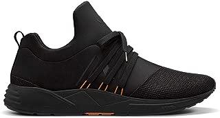 Women Sneakers Raven Mesh S-E15 Black Orange