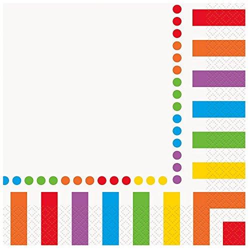 """Rainbow Party """"Happy Birthday"""" Servietten Papierserviette Einheitsgröße Mehrfarbig"""
