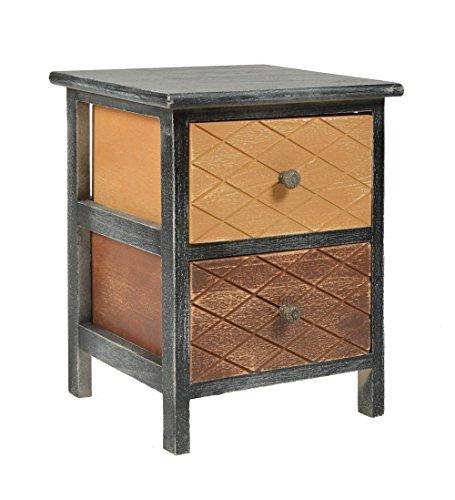 ts-ideen comoda estanteria 3 cajones shabby madera mesa mesita de noche