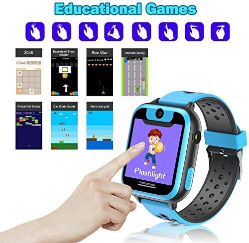 FXDCQC Kinder Smartwatch Telefon Uhr,wasserdichte Kid Smart Watch für Jungen Mädchen mit LBS Tracker SOS Anruf Kamera Anti-Lost Voice Chat