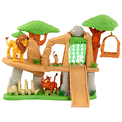 Le Roi Lion - Classic- Disney Le Roi Terre des Lions avec 3 Figurines et Accessoires, LNN07000