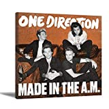 One Direction Band Made in The A.M. Album Cover Poster Decorative Painting Living Room Posters Bedroom Painting One Direction Poster Made in The A.M. Wall Tapestry with Art Nature Home Decorations