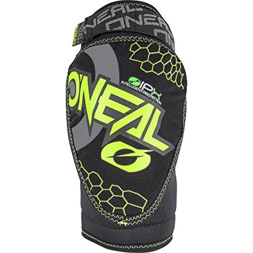 O'NEAL | Knieprotektor | Kinder | BMX MTB Downhill | Kompakte Konstruktion, Abriebbeständiges Material, Verstellbare Velcro®-Klettbänder | Dirt Knee Guard Youth | Neon-Gelb Schwarz | Größe S/M
