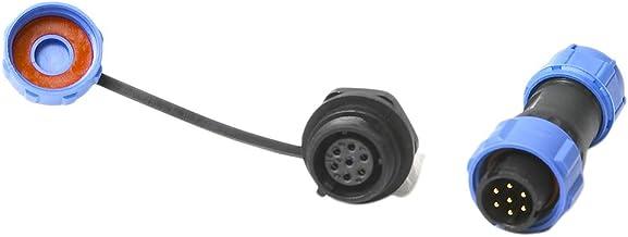Perfk Waterproof 7 Pin Connector Plug Socket For LED/Power/Lighting Equipment