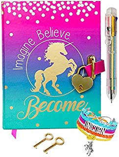 Life is a Doodle Diary with Lock for Girls - Unicorn Journal with Upgraded Lock and Keys, Notebook Pages for Secret Writin...