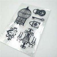 11 * 16cmの豪華なドロップライト透明なクリアスタンプ/ DIYスクラップブッキングpoアルバム/カード作成用のシリコンシールローラースタンプ
