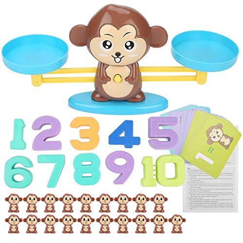 Duokon AFFE Balance Anzahl Zählen Spiel Spielzeug Kinder Frühe Intelligente Lernspielzeug für Kind Kind Vorschule(Pink)