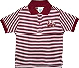 Mississippi State University Bulldogs Striped Polo Shirt by Creative Knitwear, Maroon/White, 4T