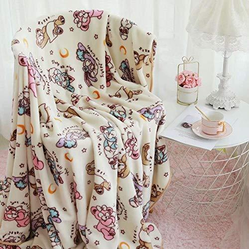 Duffy Flanell Blanket StellaLou Japan tecknade sovrum Soffa Blanket Bekvämt Warm Flanell Blanket reseförsäkring Blanket Gåvor (Color : Purple, Size : 100x100cm)