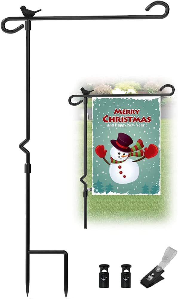 Garden Flag Stand with Bird Pole Super beauty product restock quality Sale item top Yard Holder Heavy