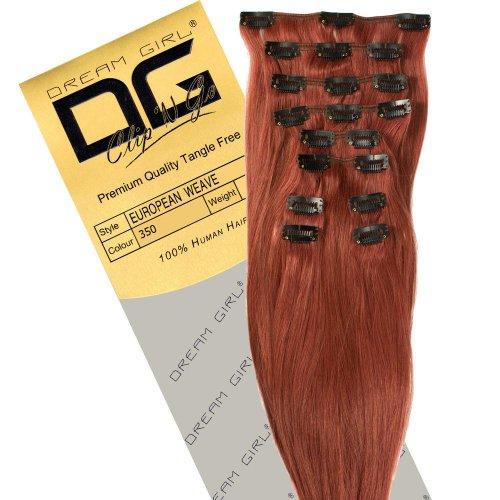 Dream Girl Extensions de cheveux à clipser Couleur 350 35,6 cm