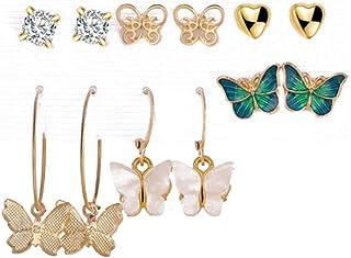 Jewels Galaxy Stylish AD & Pearl Stud Earrings Jewellery For Women
