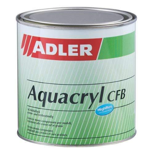 Aqua-Cryl CFB G50 375ml Halbmatt Farblos Wasserbasierter, sehr beständiger, farbloser Holzlack - Klarlack für Holz im Innenbereich