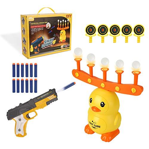 Colmanda Shooting Target, Schwimmendes ZielSpiel, Floating Target Shooting Game Set, Hover Zielscheibe Schießen, Elektro Target Foam Dart Blasters für Kinder Geschenk (Gelb)