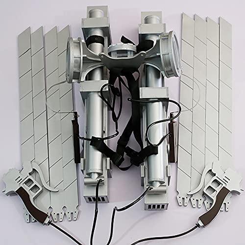 Ataque a los titanes Capitán Mikasa Dispositivo móvil tridimensional Thunder Gun Arma Accesorios de cosplay Decoración de cuchillas Juguetes Mikasa Ackerman y Levi Ackerman Accesorios desmontables