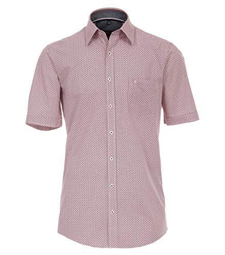 CASAMODA - Camicia da Uomo a Mezza Manica, con Stampa alla Moda, Comfort Fit Rosso – Stampa (400). XL