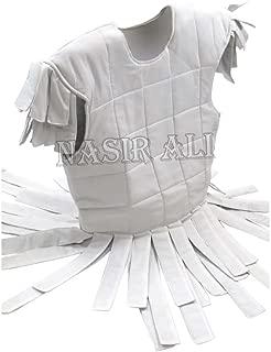 Nasir Ali VIKING COTTON GAMBESON SHIRT SLEEVELESS GAMBESON White Larp Reenactment Costumes