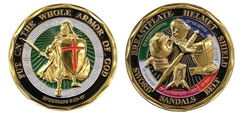 BirchRiver Armor of God Coin, Challenge Coin, Commemorative Collector