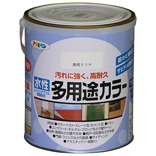 アサヒペン 水性多用途カラー 1.6L クリヤ